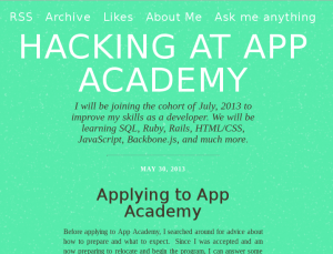 screenshot of App Academy Blog